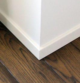 2. Veneered or painted skirting 50 mm height