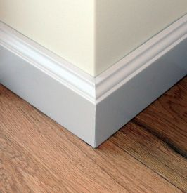 6. Classical painted skirting 100 mm height