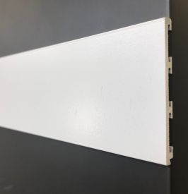 2. White coated minimal 4 mm thickness plinth